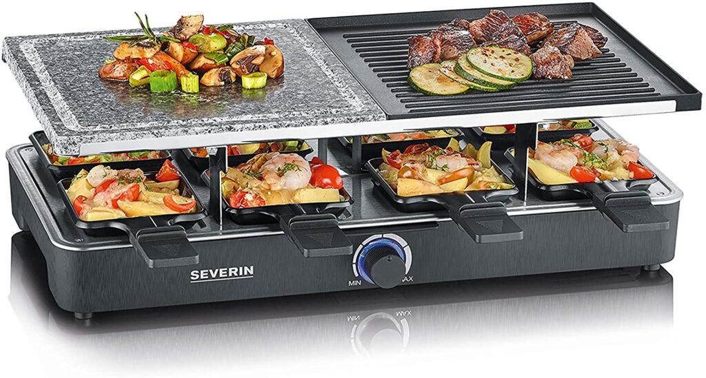 Raclette party grill Severin RG 2372 Pietra e piastra